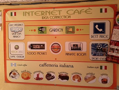 An Internet Cafe - everything you need