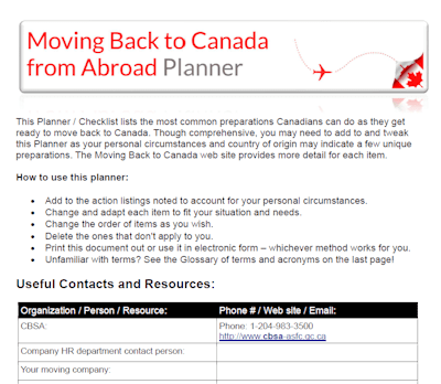 Moving Back To Canada Frequently Asked Questions Faq S